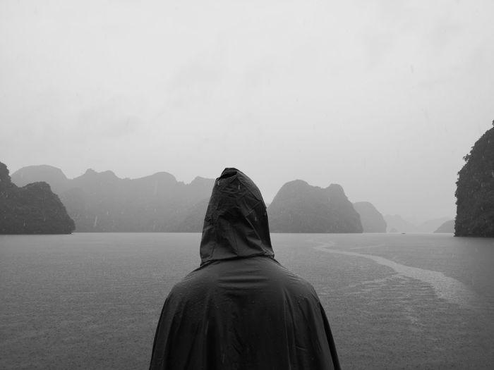 Facing the first rain of in the Summer month of May Bai Tu Long Bay Lan Ha Bay Peace Rain Conceptual Cruise Decision Ha Long Bay