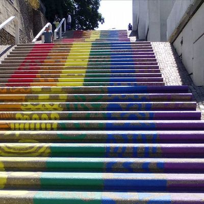 Regenboogtrap Stair Stairs Rainbow RainbowStairs Gay Gaypride Lesbian Colorful Beautiful Dutchview Nijmegen Proud Nice Color Colors Nederland Netherlands Typicaldutch Thenetherlands Nofilter Igholland Ig_holland Gelderland Gld Ig_nlpics view city walk citywalk