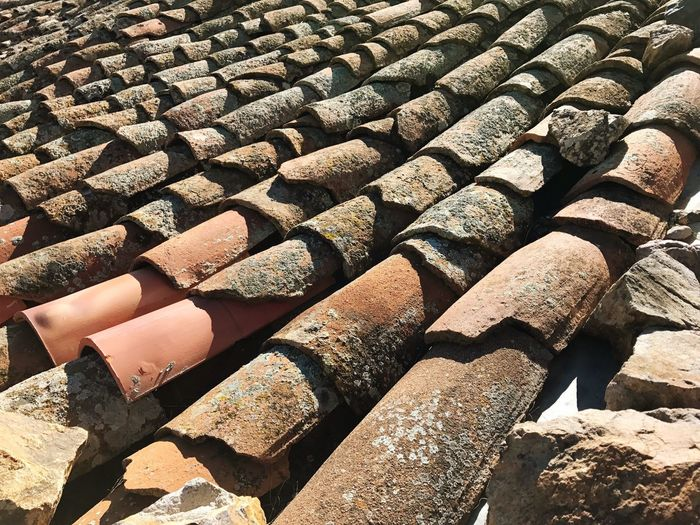 Roof Rooftop Roof Tiles Stack Large Group Of Objects Old Roof Backgrounds Textures And Surfaces