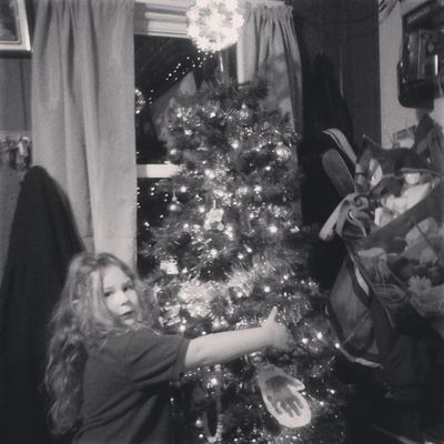 Lily decorated the Christmas tree <3 Christmas2013