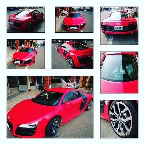 20160319 就用鮮艷紅結束累累der一天😵 Audi R8😍 明天又要回東海了😢 千萬超跑 360度視角