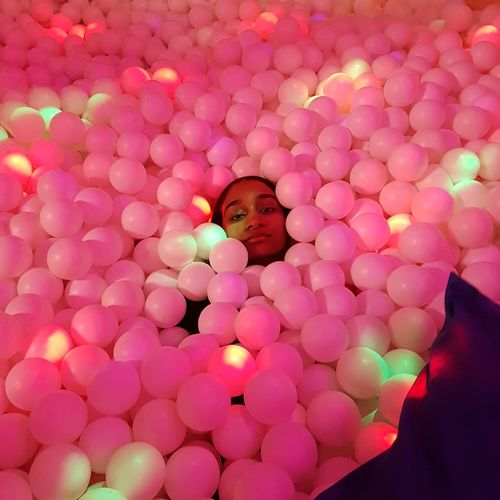 Museum Of Happiness One Woman Only One Person Woman Lights No Filter PhonePhotography Phoneography Smartphonephotography Smart Phone Colourful Balls Ballpitparty Ballpit Adult Ballpit