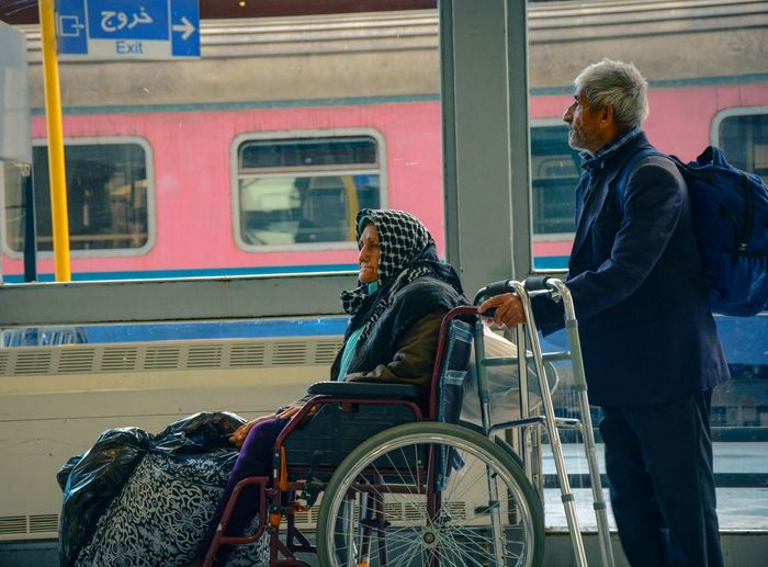 Moslem Women Iran Street Photography Wheelchair Lifestyles People Iran Iranteravel Iranianphotographers