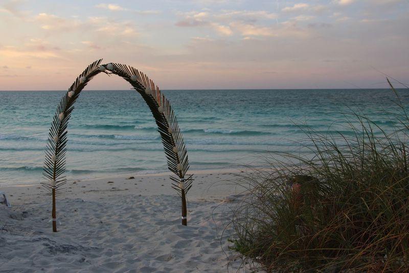 Beach Wedding Cuba Dusk Palms Relaxing Enjoying Life
