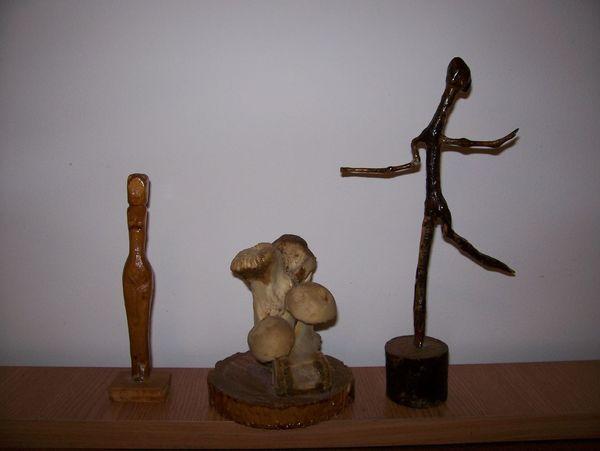ArtWork Wood Sculpture Wood Art Stilize Abstract
