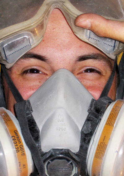 Close-up of a smiling face covered by safetry goggles and a dust-mask. Builder Close-up Close-up Shot Construction Danger Day DIY Do It Yourself Dustmask Dusty Eyeball Eyes Goggles Happy Hidden Smile Human Eye Looking At Camera One Man Only One Person People Portrait Safety Safety Goggels Smile Worker