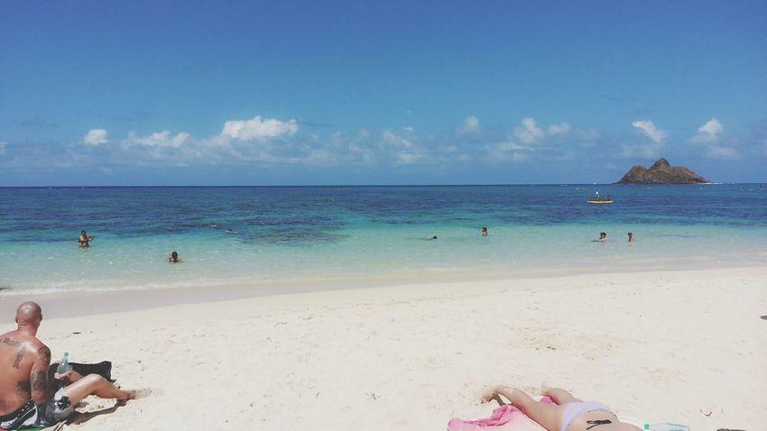Sea Relaxing Enjoying The Sun