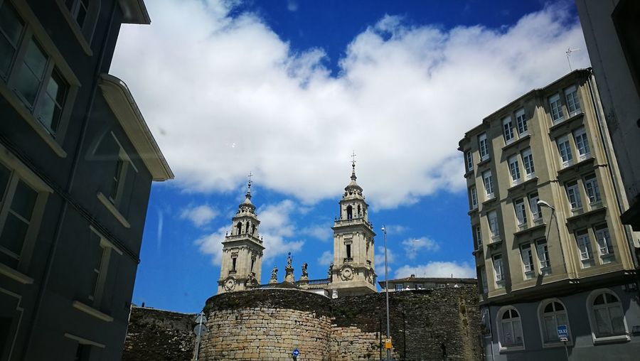 Ciudad Lugo, Galicia, Spain Catedral Catedral De Lugo Architecture Travel Destinations Building Exterior Cloud - Sky Business Finance And Industry Built Structure City Cityscape Low Angle View History Historic Historia Sky Travel No People Outdoors Statue Day Urban Skyline Nature_collection
