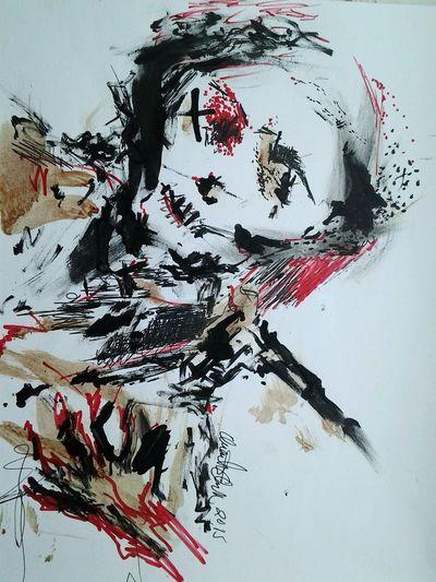 Dissolving Close-up Modern Art Painted Image Multi-layered Effect Art Studio Fine Art Painting Artist's Canvas