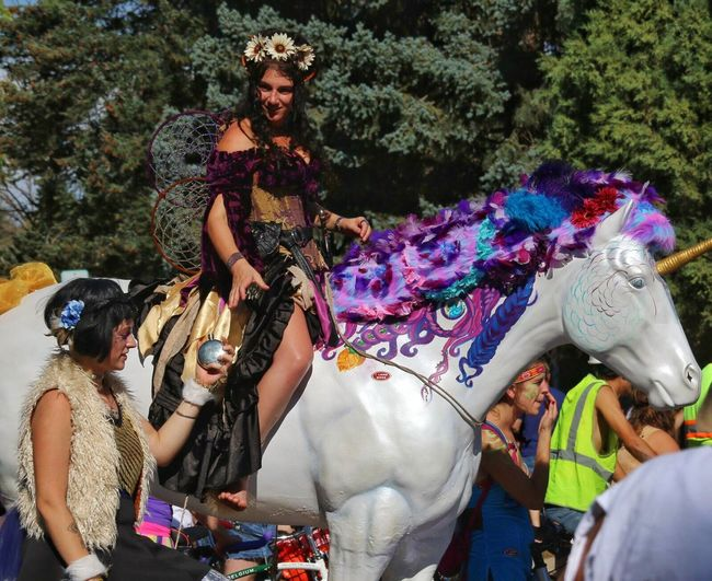 Tourdefat New Belgium Costume Fun Bicycle Parade Unicorn