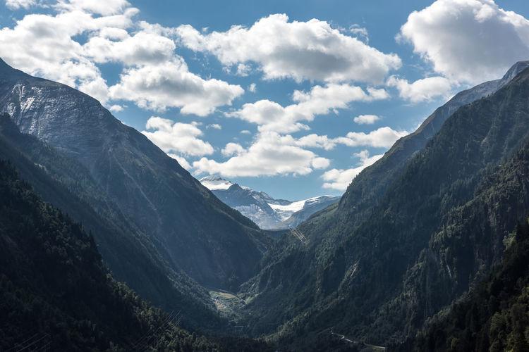 Himmel Hochgebirgsstausee Hohe Tauern Kapruner Ache Pinzgau Salzburger Land Schnee Wolken Gebirge Kaprun Tag Wandern Österreich