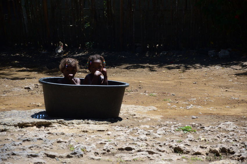 Dominica Haiti Poor  Poor Kids Boys Child Childhood Children Only Day Friendship Outdoors People Poor People  Real People Republicadominicana Togetherness Two People