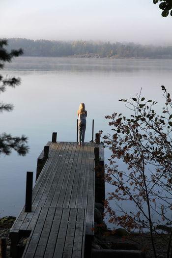Brygga Early Morning Finnishgirl  Misty Morning Water