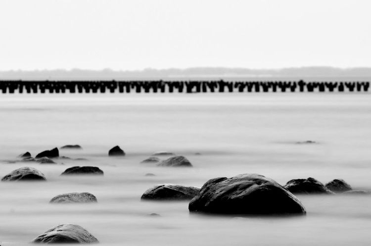 Baltic Sea Baltic Sea Nature Baltic Sea Winter Beach Still Life Beauty In Nature Clear Sky Day Hoffi99 Long Exposure Nature No People Outdoors Scenics Sea Sky Tranquil Scene Tranquility Water