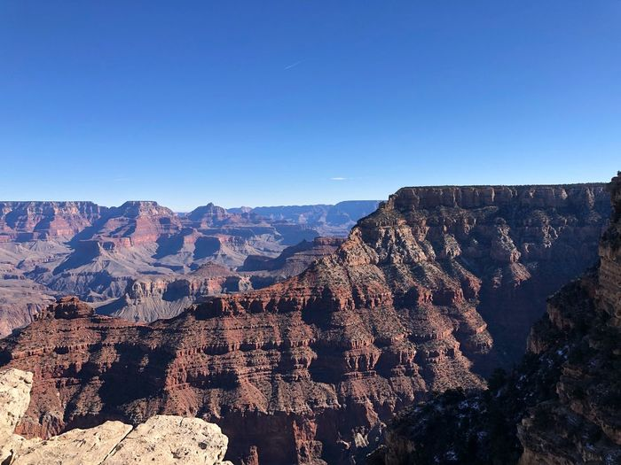 😍 Grand Canyon - I Sky Clear Sky Mountain Nature Copy Space Blue Beauty In Nature Mountain Range Scenics - Nature Sunlight Landscape Outdoors