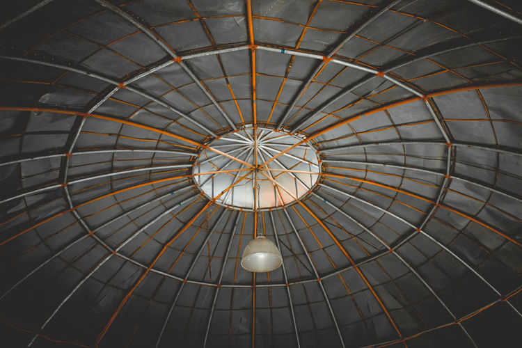 Dome shape like Spiderweb Concentric Illuminated Circle Backgrounds Architecture Built Structure Architectural Design Architectural Feature Geometric Shape Architectural Detail Round Ceiling Architecture And Art Full Frame Circular LINE Directly Below