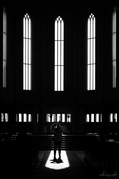 Church Adult Adults Only Architecture Bnw Built Structure Day Full Length Indoors  One Person One Woman Only People Real People Silhouette Street Photography Streetphotography Window Women