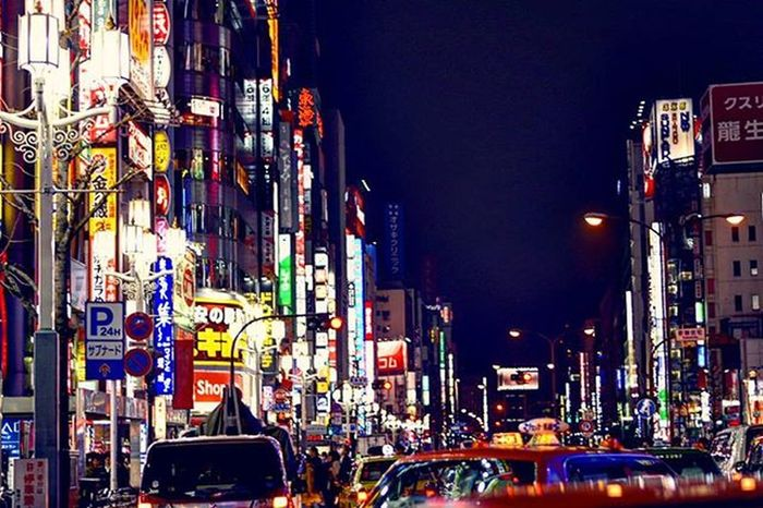 Neon city over a taxi roof. Tokyo Taxi Nightlife Gopro Nightlights Neons Anotherworld