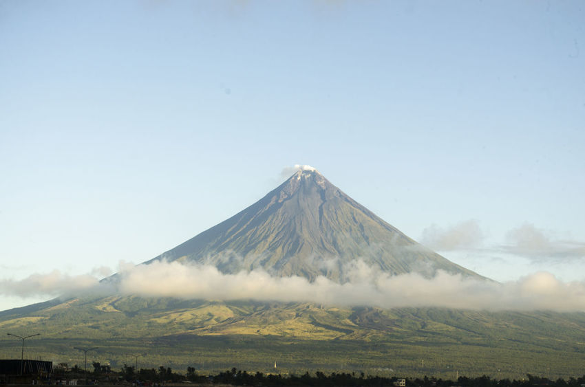 Active Volcano ASIA Clouds Crater Environment Landscape Mayon Volcano Philippines Mountain Nature Outdoors Perfect Cone Volcano Philippines Sea Sky Sunrise Tourism Tourist Destination Travel Travel Destinations Travel Photography Tree Volcano