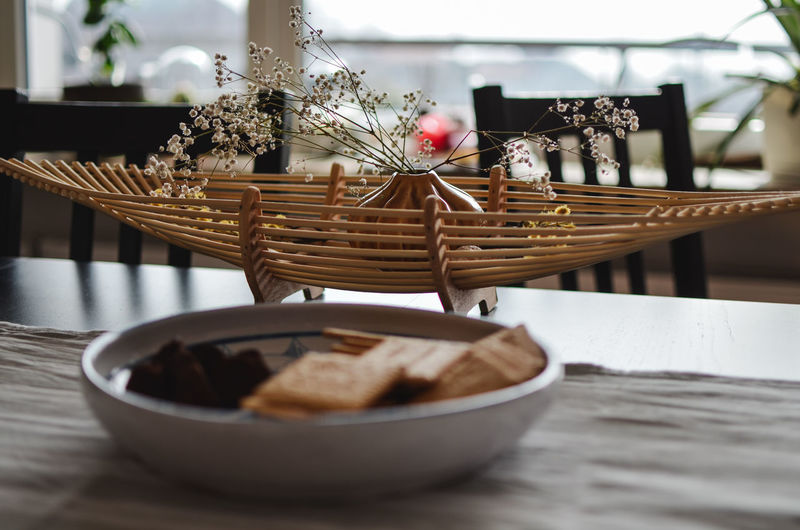 Table Food And Drink Freshness Plant Flower Flowering Plant Food Indoors  No People Selective Focus Close-up Still Life Bowl Wood - Material Ready-to-eat Nature Day Wicker Vase Plate Breakfast Setting