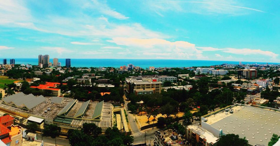 Yesterday's pov of Santo Domingo's shore line sSkyaArchitecturerResidential DistrictcCloud - SkyaAerial ViewcCity Life
