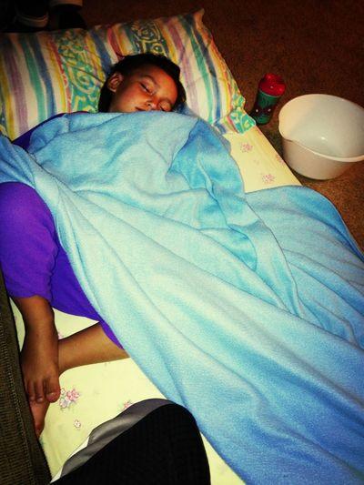 my poor baby girl is sick been sick all day :( she threw up over 10 times poor lover :(( Sick :( Poor Baby Sleepy Girl My Little Love