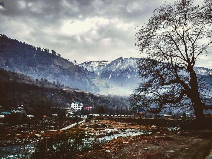 my village view Mountain Winter Snow Cold Temperature Nature Mountain Range Weather Beauty In Nature Tree Landscape Snowcapped Mountain Cloud - Sky Sky Tranquility