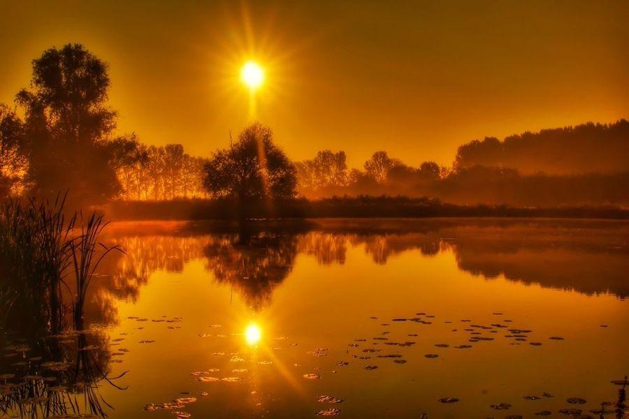 Water Reflections Sunset Beautiful Nature Showcase: November