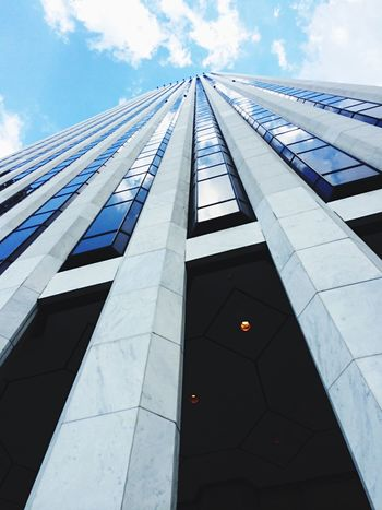 Architecture Low Angle View Building Exterior Built Structure New York City New York Sky Sightseeing Memories Architecture City Fun Picoftheday Big Apple Summer Fifth Avenue NYC Love Blue Details Modern No People City Outdoors Day Skyscraper EyeEmNewHere