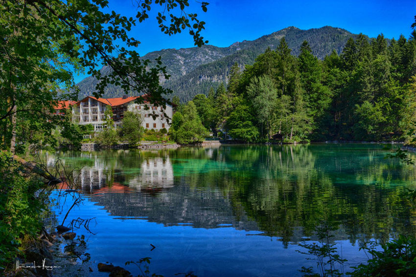 Badersee Architecture Beauty In Nature Blue Building Exterior Built Structure Day First Eyeem Photo House Lake Mountain Nature Nikonphotographer No People Outdoors Reflection Scenics Sky Tranquil Scene Tranquility Tree Water