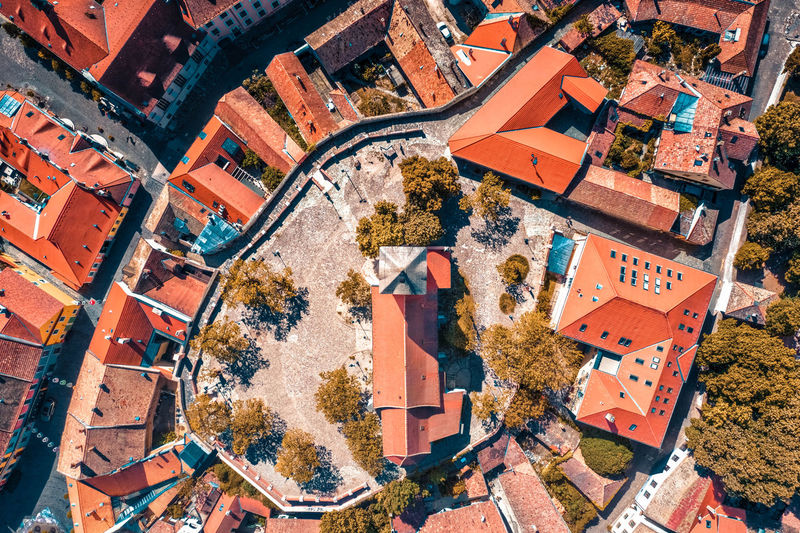 Hungary - szentendre from drone view