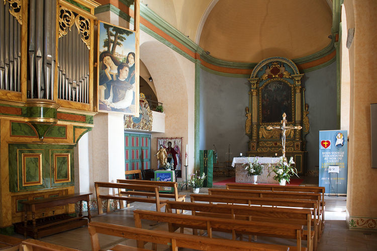 Architecture Art Art And Craft Church Creativity Human Representation Indoors  Mougins Ornate Pipe Organ Place Of Worship Religion Religious Architecture Religious Art Saint-Jacques Le Majeur Sculpture Spirituality Statue
