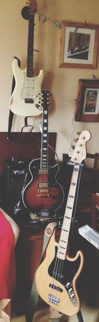 Guitarcollection Jazzbass Squier By Fender Fender Stratocaster Voxamp