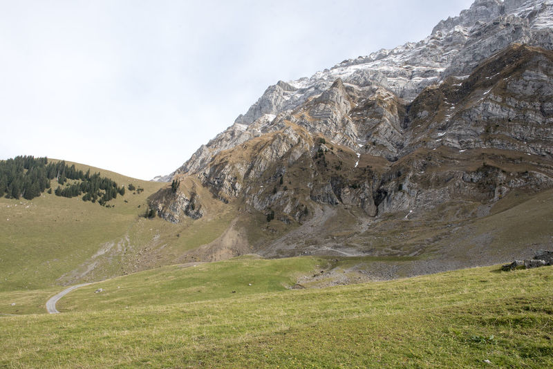Grass Ice Mountain Nature Rural Travel Countryside Day Forest Mountain Nature No People Outdoors Sky Swiss Alps Tranquil Scene Valley