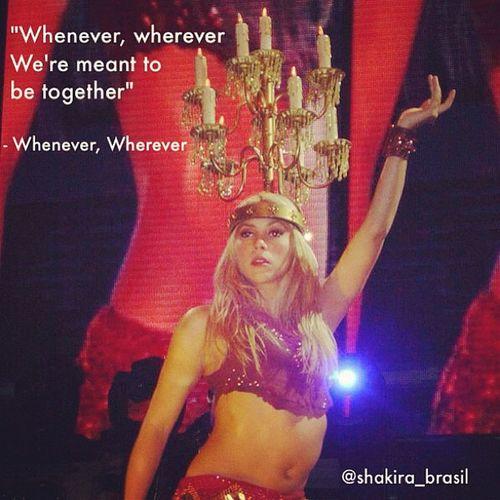ShakiraLyrics - Whenever, Wherever Shakirabrasil Shakira