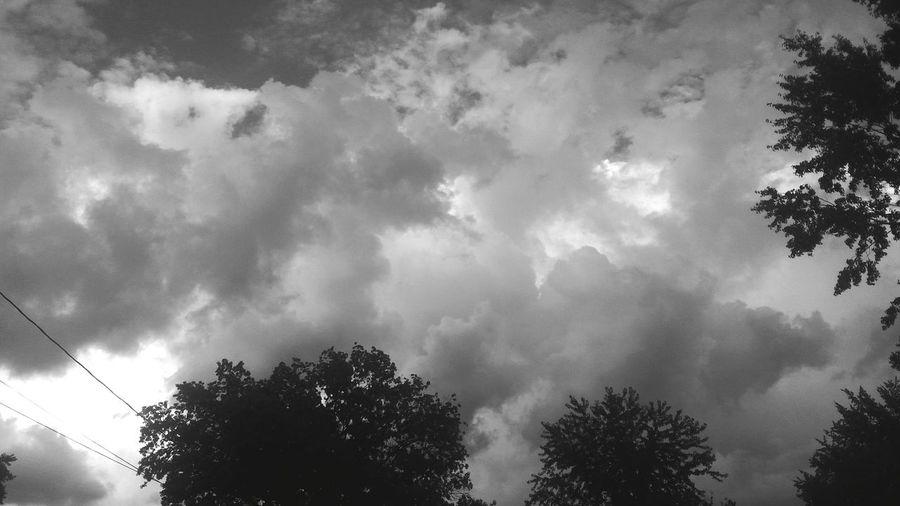 Calm after the storm Sky Clouds Storm Rain B&w Bright Iridine