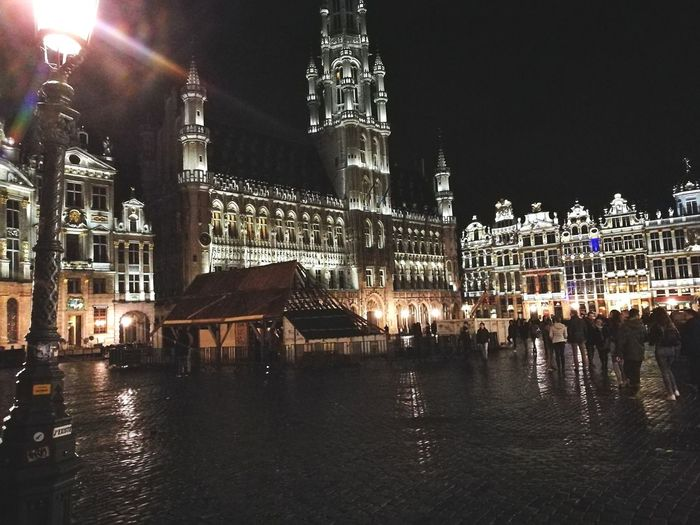 Visit With Me Brussels By Night. Spanish French Dutch , Belgian  People Choose Independance after an Italian Opéra Muette Portici in 1830 Remarquable Conservation UNESCO World Heritage Site Since 1998 Springtime THE GROUND is covered By Flowers . It Makes A Remarquable Paint