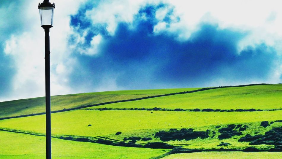 Sky Agriculture Rural Scene Field Growth Tranquil Scene Nature Tranquility No People Beauty In Nature Cloud - Sky Scenics Outdoors Landscape Day Woolacombe, Devon