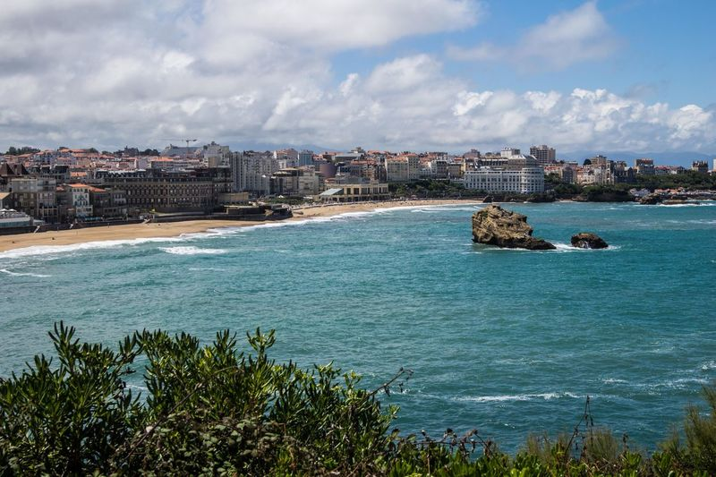 top view in Biarritz, France Architecture Beach Beauty In Nature Building Exterior Built Structure City Cityscape Cloud - Sky Day Nature No People Outdoors Residential  Residential Building Sea Sky Town Travel Destinations Water