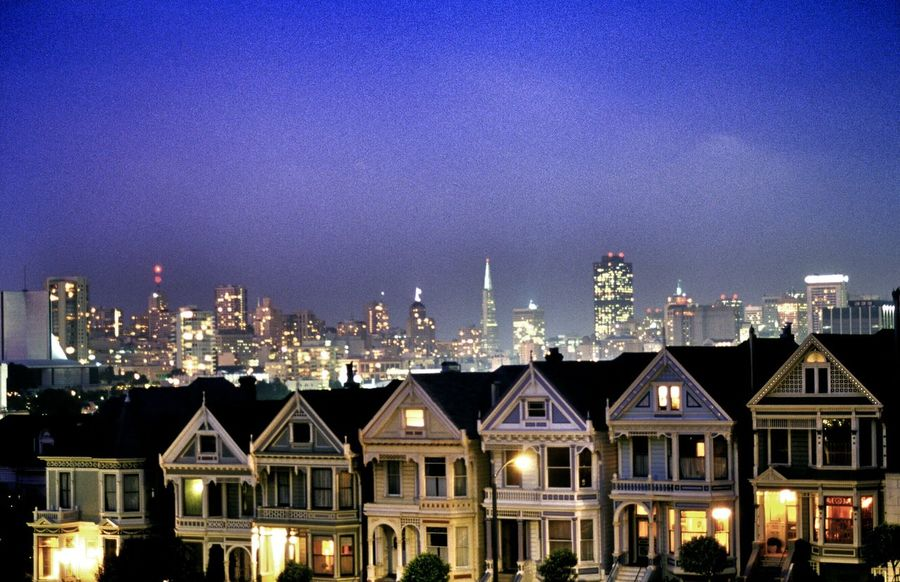 Painted Ladies, San Francisco, California EyeEm Best Shots Landscape City Sanfran Painted Ladies San Francisco Sanfrancisco Color Colorful Cityscape Dusk Scenic Landscapes Houses City Lights Sightseeing Scenic Travel Photography Cityscapes Travel America Tourist Destination Tourist Attraction  Scenic View EyeEm Gallery