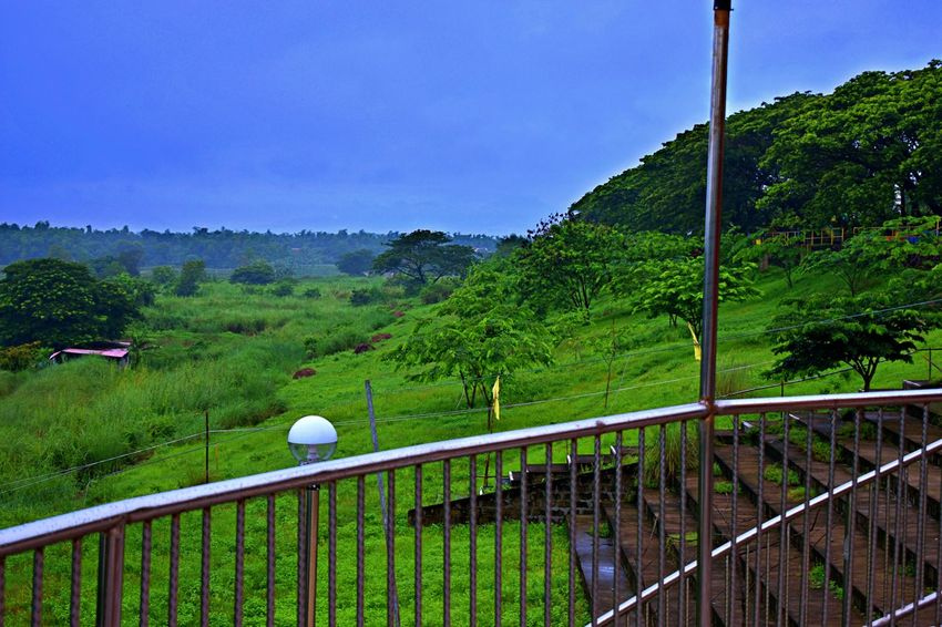 Eco Park Sta. Rita Pampanga Philippines Barrier Beauty In Nature Boundary Day Fence Green Color Growth Land Landscape Mountain Nature No People Outdoors Plant Railing Scenics - Nature Sky Tranquil Scene Tranquility Tree