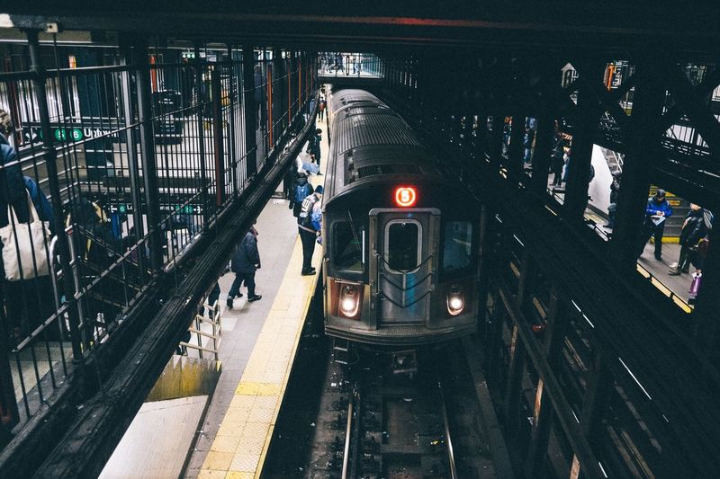 VSCO New York Perspective Candid Urban People On The Move Public Transportation Streetphotography Urban Geometry