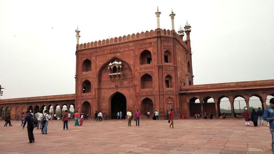 Jama Masjid Delhi Jama Masjid City Place Of Worship History Arch Cultures Clear Sky Sky Architecture Built Structure