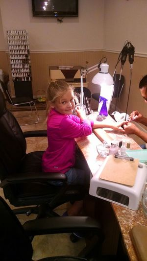 Her first manicure