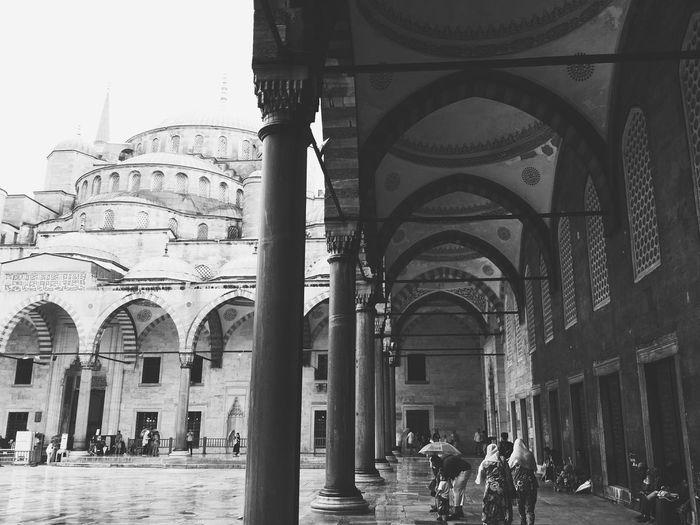 Sultanahmet Sultanahmetcamii People Architecture Architecture_bw Istanbul Mosque Islam Column Columns Column Capitals Istanbul Turkey Bluemosque Blue Mosque Blue Mosque, Istanbul
