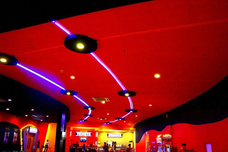 Pattern, Texture, Shape And Form Ceiling Moviehouse Architecture Ceilingart Lights Colors Patterns Photography Malls