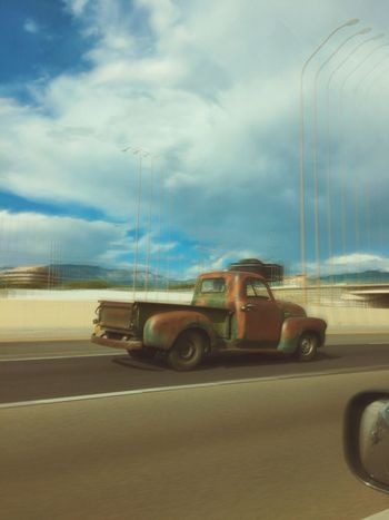 ShotOniPhone6 IPhoneography The Street Photographer - 2015 EyeEm Awards Slow Shutter Newmexico Vintage Cars Classic Bigblock Capturing Movement