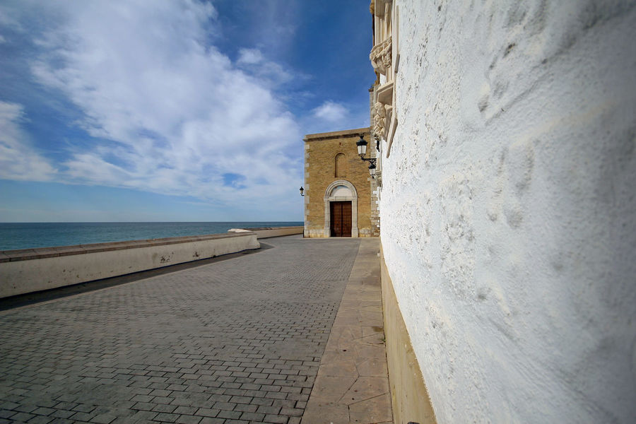 Ancient History Architecture Built Structure Cloud - Sky Day Horizon Over Water Nature No People Outdoors Sea Sitges Barcelona España Sky Travel Destinations
