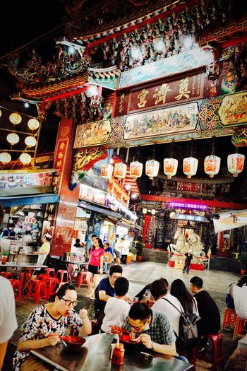 Taiwan Taiwan Food Large Group Of People Group Of People Indoors  Crowd Architecture Adult Men Illuminated Built Structure Real People Leisure Activity Women Lifestyles Multi Colored Retail  Decoration Arrangement Market Collection
