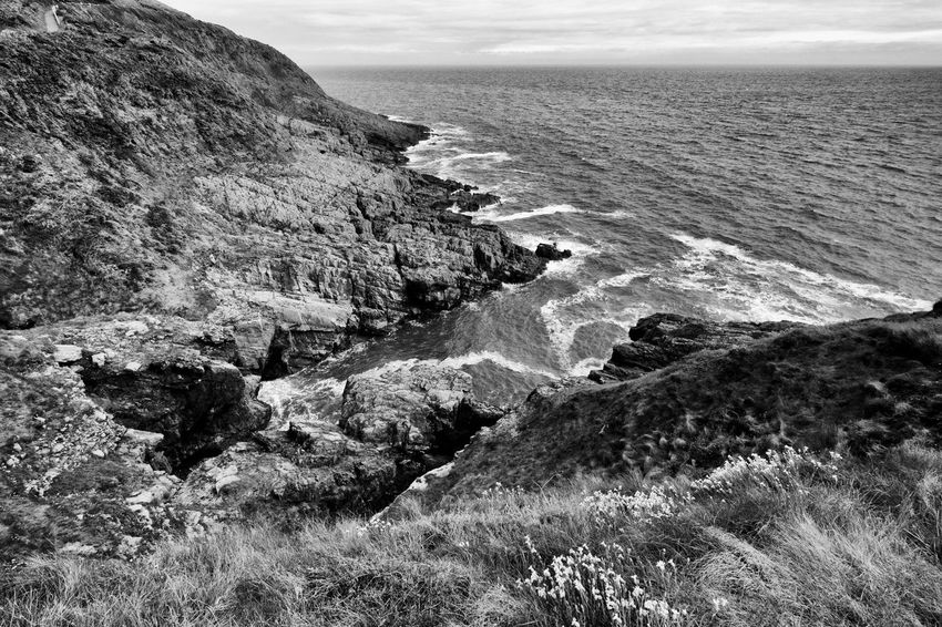 Beauty In Nature Blackandwhite Cliff Coastline Day Horizon Over Water Idyllic Langland Bay Nature No People Non Urban Scene Non-urban Scene Outdoors Remote Rock Rock - Object Rock Formation Scenics Sea Seascape Shore Sky Tranquil Scene Tranquility Water